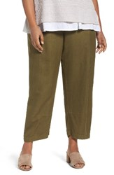 Eileen Fisher Plus Size Women's Lantern Ankle Pants Olive