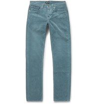 Tom Ford Slim Fit Stretch Cotton Corduroy Trousers Blue