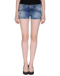Maison Clochard Denim Shorts Blue