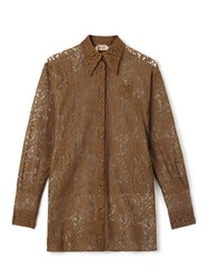 No.21 Lace Shirt Brown
