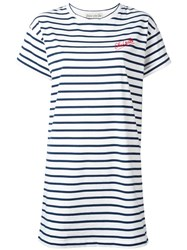 Etre Cecile Striped T Shirt Dress Red