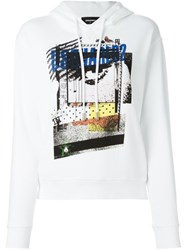 Dsquared2 Abstract Print Hoodie White