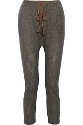 Kain Label Vale Cotton Blend Stretch Knit Tapered Pants Gray