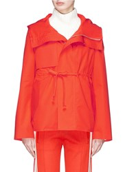 Ms Min Drawstring Two In One Hooded Down Jacket Orange
