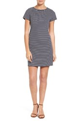 Loveappella Petite Women's Stripe Ottoman Shift Dress