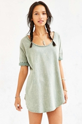 Ecote Acid Wash Tee Green