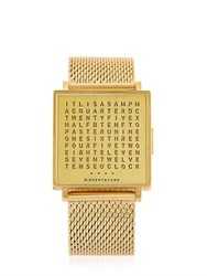 Qlocktwo English Golden Words Watch