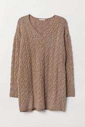Handm H M Cable Knit Sweater Brown