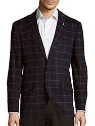 Tailorbyrd Courbet Wool Blend Jacket Navy