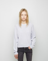 Alexander Wang Cashmere Blend Cropped Sweater Sky