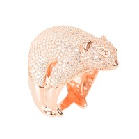 Latelita London Possum Ring Rosegold White Zircon White Rose Gold Pink