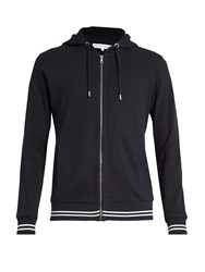 Orlebar Brown Mathers Zip Through Hooded Cotton Sweatshirt Navy