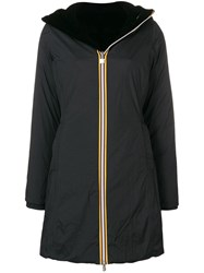 K Way Hooded Raincoat Black