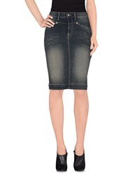 Manila Grace Denim Denim Denim Skirts Women Blue