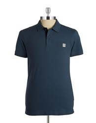Bench Crystalline B Polo Shirt Orion Blue