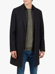 Ted Baker Cambear 2 Button Overcoat Navy