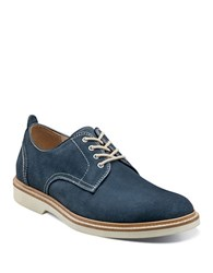 Florsheim Bucktown Suede Plain Toe Oxfords Navy