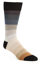 Men's Paul Smith 'Rainbow' Stripe Socks Grey