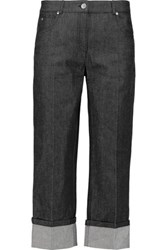 Michael Kors Collection High Rise Straight Leg Jeans Black