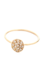 Blanca Monros Gomez Flat Seed Pave Diamond Ring Gold White Diamond