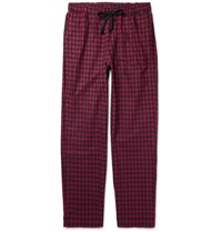 Sleepy Jones Hoffman Checked Cotton Flannel Pyjama Trousers Red