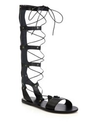Ancient Greek Sandals Thebes Tall Leather Gladiator Sandals