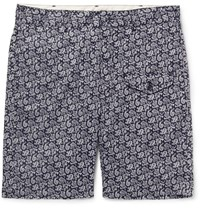 Engineered Garments Ghurka Paisley Print Cotton Voile Shorts Navy