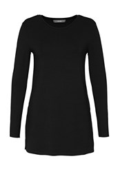 Hallhuber Tunic Style Long Top Black