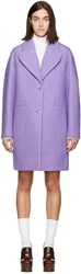 Carven Purple Long Wool Coat