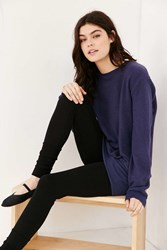 Project Social T Dylan Cozy Oversized Pullover Sweatshirt Navy