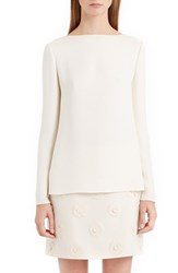 Valentino Women's Back Bow And Cowl Cady Blouse