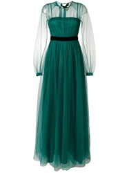 N 21 No21 Open Back Tulle Gown Women Polyamide Viscose 44 Green