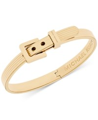 Michael Kors Ribbed Buckle Bangle Bracelet Gold