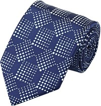 Fairfax Geometric Dot Satin Necktie Blue