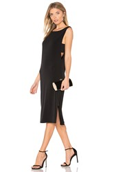 Velvet By Graham And Spencer Leia Midi Dress Black