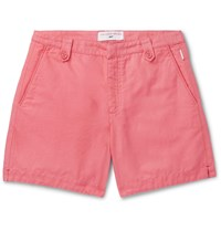 Orlebar Brown 007 Thunderball Cotton And Linen Blend Shorts Pink