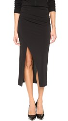Air By Alice Olivia Ann Asymmetrical Wrap Skirt Black