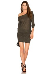 Michael Stars Shirred Mini Dress Gray