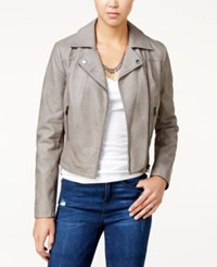 American Rag Faux Leather Moto Jacket Only At Macy's Vintage Gray