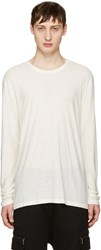 Alexander Wang T By Ivory Long Sleeve T Shirt
