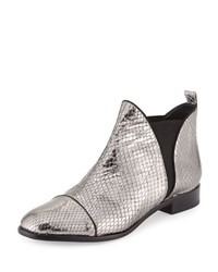 Alexandre Birman Carly Python Flat Chelsea Boot Silver