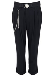 High Courage Navy Cropped Trousers