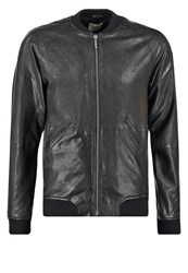 Nudie Jeans Brook Leather Jacket Black