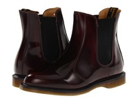 Dr. Martens Flora Chelsea Boot Burgundy Classic Rub Off Women's Lace Up Boots