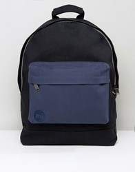 Mi Pac Canvas Backpack In Black Navy