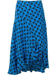 Kenzo Blue Polka Dot Skirt Black