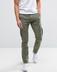 Selected Homme Slim Fit Cargo Trouser Olive Green
