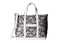 French Connection Isla Large Tote Remy Stripe White Tote Handbags Gray