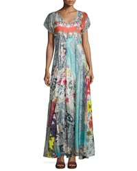 Johnny Was Lulu Printed Maxi Dress Multi