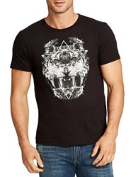 William Rast Owl Lion Graphic Cotton Tee Black